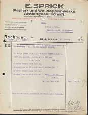 BIELEFELD, Rechnung 1931, Papier- und Wellpappen-Werke AG E. Sprick
