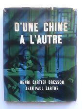 """""""D'une Chine à l'autre"""" SARTRE + Photographies de CARTIER-BRESSON, Delpire 1954"""