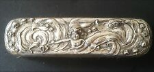 Art Nouveau STERLING Silver UNGER BROS? Water Nymph Cherub Clothing BRUSH