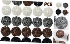 DomeStar Rattan Ball, 24PCS 2 Inch Wicker Ball Decorative Ball Orbs Vase Fillers