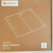 Etekcity Digital Body Weight Bathroom Scale 400lb Tempered Glass BLACK