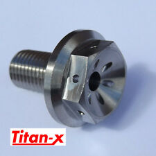 Yamaha R1 2002-12  front wheel spindle bolt Titanium drilled M14x1.5