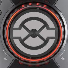 PIONEER CDJ400 TRAKTOR JOG DIAL SLIPMAT GRAPHICS - (SILVER)  /  CDJ 400