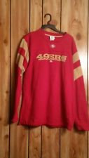 SF 49er mens vintage sweat shirt red and gold NFL size medium