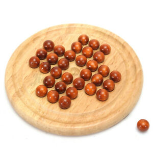 Wooden Solitaire Traditional Board Game Marble Child Classic Educational   AU