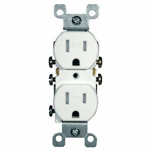 (10 Pack) Leviton W5320-T0W 15 Amp, 125 Volt, Weather and Tamper Resistant Recep