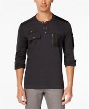 Inc International Concepts Never Alone Pocket Henley Shirt Mens Size Medium New