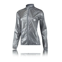 adidas Clima Anthem Womens Silver Windproof Zip Sports Running Jacket Top