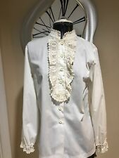 83bc271f1b5 The Lilly Pulitzer 1960 S Hand Crochet Trim Blouse VICTORIAN Style
