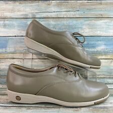 Soft Spots Gray Leather Comfort Sneakers Shoes Lace Up Casual Womens Size 10M