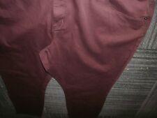 Plus Size Skinny Pants Burgandy/Purple Ava Viv Size 26W Stretch (B189)