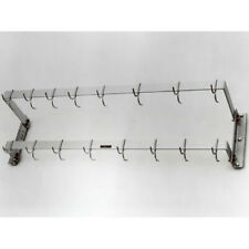 """H. A. Sparke Pan Rack, Wall Mount. 12"""" W (from Wall) X 48"""" L. (53"""" Overall)"""