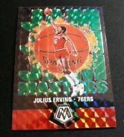 C43 Julius Erving 2019-20 Panini Mosaic SP Jam Masters Green Mosaic Prizm 76ers