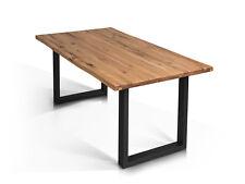 Alu Esstisch Esszimmertisch Massivholz Tobago Holztisch Wildeiche 200x100 Cm