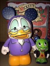 "Scrooge McDuck Jiminy Cricket CHASER 3"" 1.5 Vinylmation Mickey's Christmas CaROL"