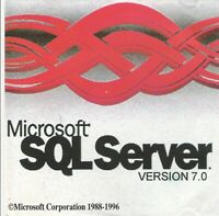 Classic Pc Software - Microsoft SQL Server v7.0 - Inc. Classic Pc Game - Real Po