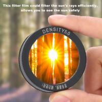 Plastic Solar Filter Sun Film Membrane 5.0 Astronomical Telescope Lens Cap BS