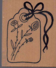 G-3163 PSX FLOWER TAG rubber stamp