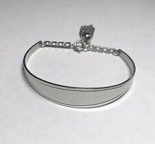 NOS 1960's White Metal High Polished Cuff Bangle Bracelet