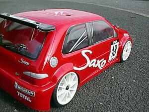 Citroen Saxo Sprint DECALS GTI1:10 RC Car Body shell 238mm HPI repro with LEXAN