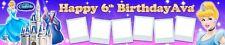 2 x CINDERELLA  PERSONALISED PHOTO BIRTHDAY BANNER