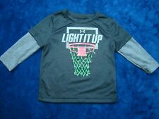 "Under Armour Boys ""Light It Up"" Basketball Holiday Christmas Shirt Size 18 Mo"
