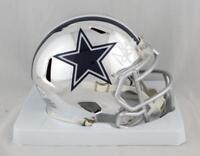 Dak Prescott Autographed Dallas Cowboys CHROME Mini Helmet- Beckett Auth *White