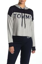 BNEW Tommy Hilfiger Colorblock Pj Womens Hoodie, heather grey, Small