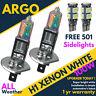 H1 100w Xenon Hid Ultra Super White Effect Head Lamps Light Bulbs 501 Canbus 12v