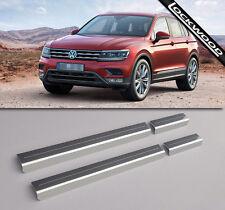 VW Tiguan Mk2 Stainless Steel Sill Protectors / Kick Plates