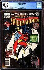 Spider-Woman 1 CGC 9.6 White New Origin Story Joe Sinnott Cover