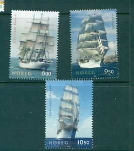 Norway - Sc# - 1437-9. 2005 Sailing Ships. MNH $7.50.