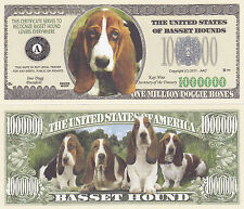 10 Basset Hound Dog Novelty Currency Bills # 380