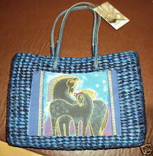 Tote Bag/Handbag - Laurel Burch - Indigo Horses Postcard - LB7905