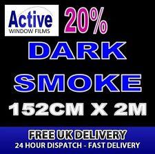 152 cm, x 2 m - 20% Tinta fumo scuro auto finestra Tinta FILM ROLL-PRO Qualità