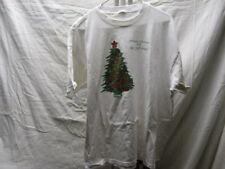 Vintage Christmas Tree Holiday Greetings White T Shirt