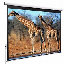 100'' 16:9 Electric Pull Down Projection White Screen Projector Home Movie Matte