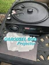 Kodak Carousel Slide Projector 600 with Power Cord and 2 Slide Trays