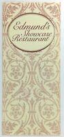1980's Original WINE LIST Menu EDMUND'S SHOWCASE Restaurant Garden City New York