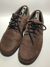 Mens Clarkes Brown Leather Shoes Size 10G