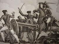 RARE Gravure SACHON DRAGON CAVALERIE BATAILLE IENA JENA NAPOLEON EMPIRE 1820