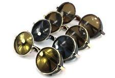 Metal & Plastic Frame Round 100% UV400 Sunglasses for Men
