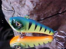 Strike Pro FAT BAT Ice/Open Water Jig EG-086#A12FL GLOW PERCH for Walleye/Pike