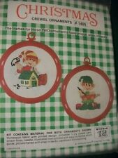"Studio 12 ""Elves"" Cross Stitch Ornaments Kit Size 3 1/2"" Set of 2"