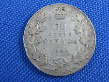 1909 CANADA KING EDWARD VII 50 CENT SILVER COIN
