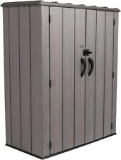 Vertical Storage Shed Weather resistant (53 Cubic feet), Roof Brown,74x142x174cm