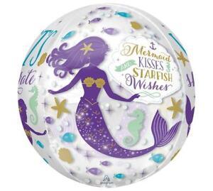 "16"" ORBZ Mermaid Kisses STARFISH Wishes Balloon Sea Ocean Pool FREE SHIPPING"
