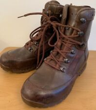Genuine British Army Mens HAIX High Liability Combat Patrol Brown Leather Boots