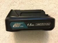 New Makita CXT 12 Volt 12V Max BL1016 1.5Ah Lithium Ion Battery Li-ion OEM