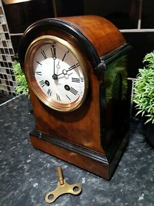 Victorian French wooden cased clock , Richard and Co circa 1860's